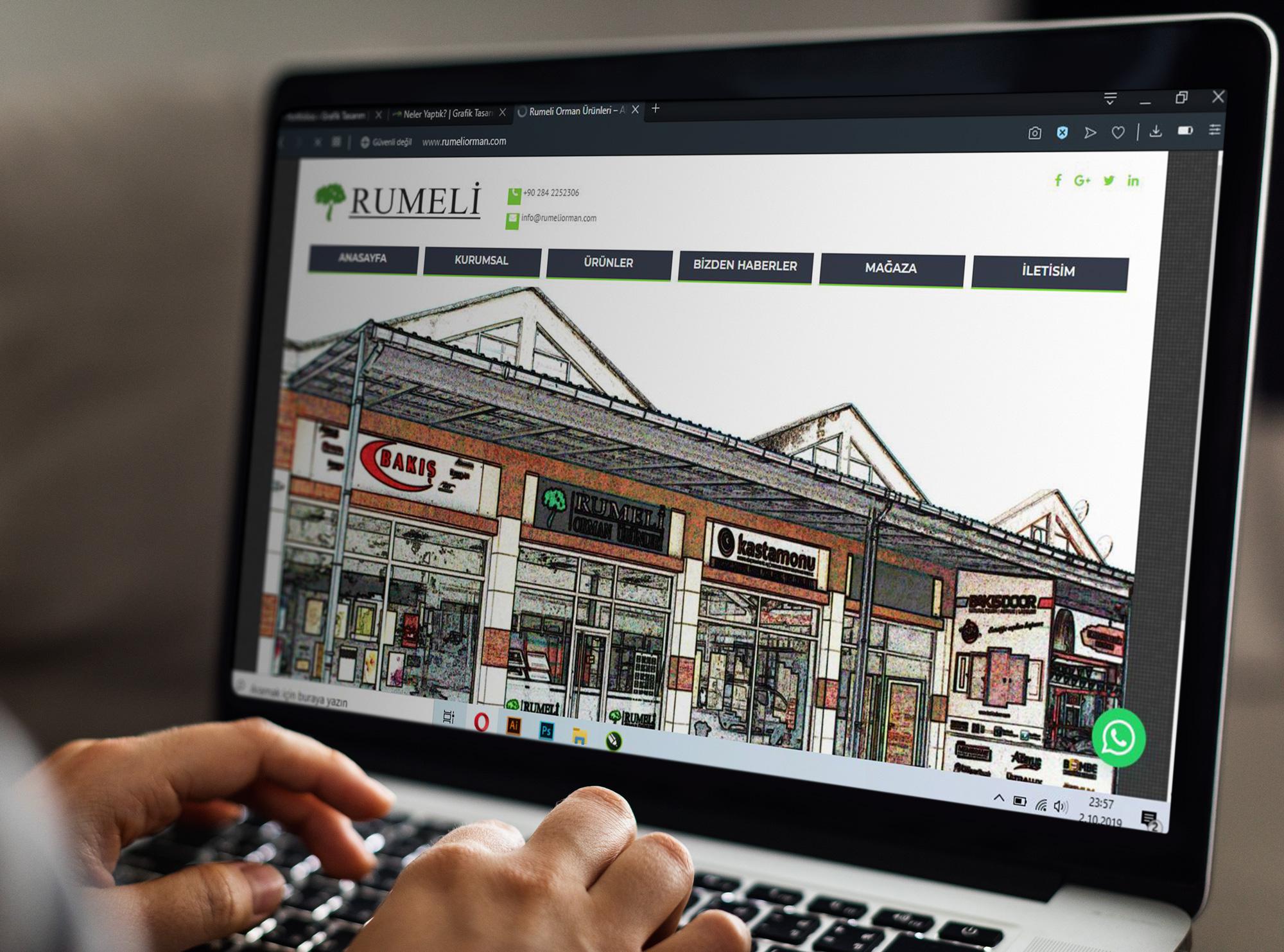 rumeli orman ürünleri web tasarım - Neler Yaptık?