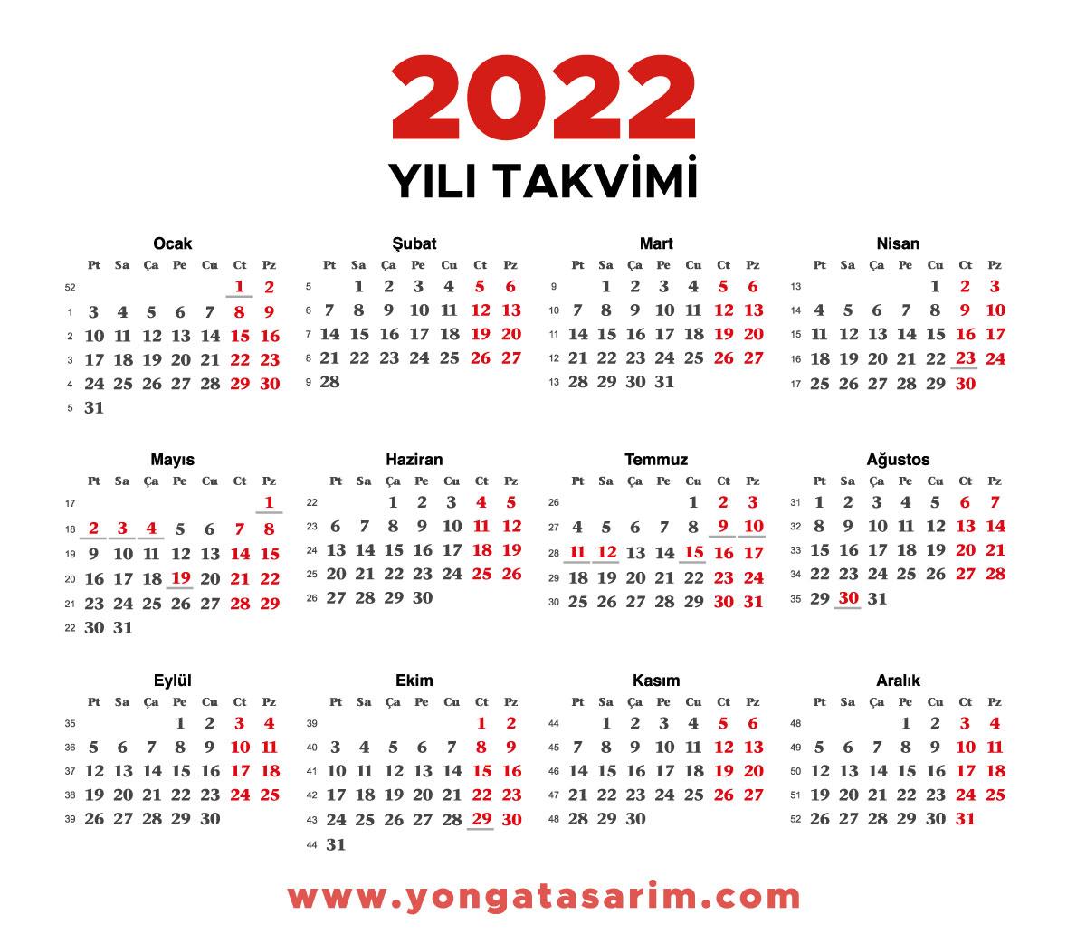 2022-takvimi-vektörel-pdf